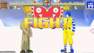 getlinkyoutube.com-MUGEN: Tean Colonel vs Team Donald