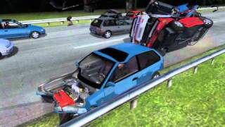 getlinkyoutube.com-rFactor Honda Civic crash test vol. 3