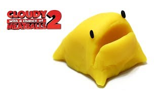 getlinkyoutube.com-Play-Doh Foodimal Cute ButterToad from Cloudy With A Chance of Meatballs 2 Foodimal Frenzy Toy Easy