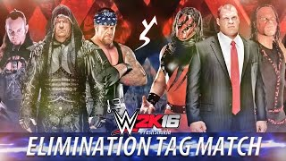 getlinkyoutube.com-WWE 2K16 - UNDERTAKER vs KANE | 6 Man Elimination Tag Team Match | PS4 Gameplay