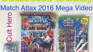 getlinkyoutube.com-Match Attax 2016 2015 mega video with starter pack collector tin and booster pack extra cult cards