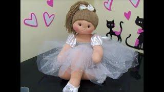 getlinkyoutube.com-Diy -Como fazer bailarina de pano