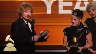 getlinkyoutube.com-Ed Sheeran | Song of the Year | 58th GRAMMYs