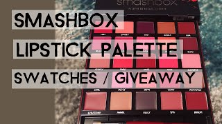 getlinkyoutube.com-Smashbox Lipstick Palette: Swatches + Giveaway [CLOSED]