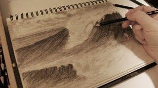 getlinkyoutube.com-How to Draw Realistic Crashing Waves w/ Commentary