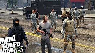 getlinkyoutube.com-Bodyguard Army VS Zombie Horde - GTA 5 PC MOD (Zombie Infection Mod VS Army Mod)