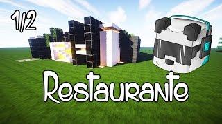 getlinkyoutube.com-Minecraft: como hacer un restaurante 1/2