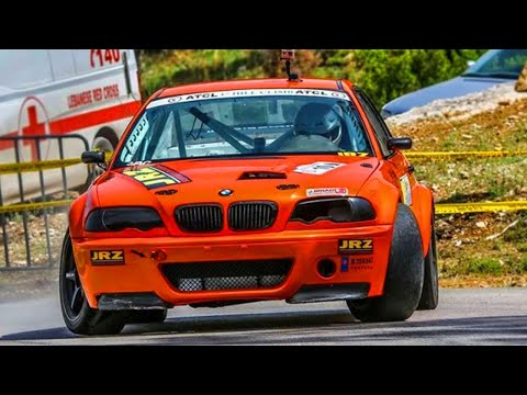 BMW M3 hill climb drift