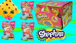 getlinkyoutube.com-Season 1 Shopkins Plush Hangers Box of Surprise Blind Bags Full Set of 5 - Cookieswirlc Videos