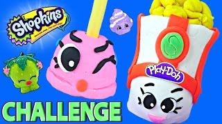 getlinkyoutube.com-Shopkins Challenge ★ Making Play Doh Peta Plunger and Poppy Corn DCTC Surprise Shopkin Toys