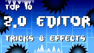 getlinkyoutube.com-Top 10 2.0  EDITOR Tricks & Effects | Geometry Dash