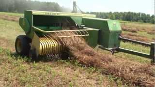 getlinkyoutube.com-Baling hay Bertie County, North Carolina