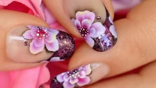 getlinkyoutube.com-Nail Art One Stroke & French Manicure