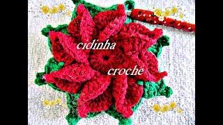 getlinkyoutube.com-Croche -Tapete Flor De Natal -Passo A Passo- Parte 1