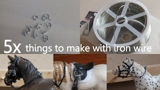 getlinkyoutube.com-5x Things to make with iron wire for your Schleich!