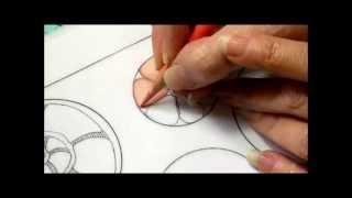 getlinkyoutube.com-Color pencil tutorial. zentangle inspired art, color blending. Part One