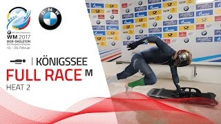 Full Race Men's Skeleton Heat 2   Königssee   BMW IBSF World Championships 2017