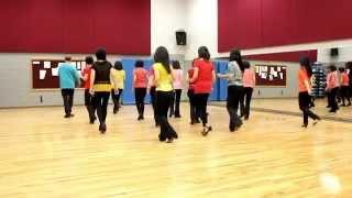 getlinkyoutube.com-Crocodile Roll - Line Dance (Dance & Teach in English & 中文)