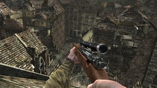 US Sniper in Heavy City Combat ! WW2 Game on PC Medal of Honor Airborne