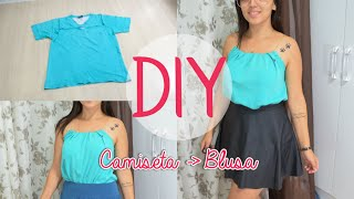 getlinkyoutube.com-DIY  Antes Camiseta Masculina Agora Blusa Feminina - Tanara Hormain