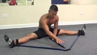 getlinkyoutube.com-Leg Stretcher Split Training
