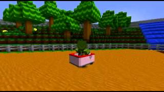 getlinkyoutube.com-Mario Kart in Minecraft Map #2 Mario Kart Ds - Yoshi's Falls Minecraft Version