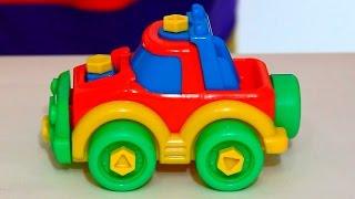 getlinkyoutube.com-Video per bambini. Clown Dima costruisce una macchina. Circo russo