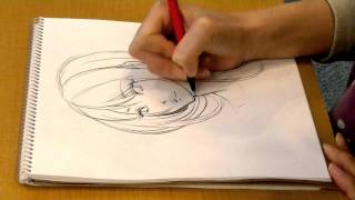 "getlinkyoutube.com-DRAWING girl's face by pencil ""How to draw manga""04 SeAL_Morita_Eihire森田エイヒレ"