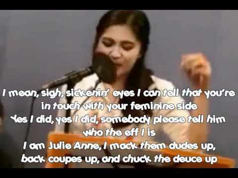 Nicki Minaj - Super Bass (Julie Anne / JAPS cover) USTREAM - LYRICS/instrumentals