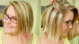 getlinkyoutube.com-How to Slice Highlights// Chunky Blond Weave Tutorial