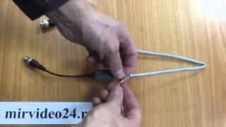 Подключение камеру видеонаблюдения по витой паре