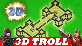 "getlinkyoutube.com-Clash Of Clans | INCREDIBLE 3D TROLL BASE! A MUST WATCH! | ""BATTLE ROYAL"""