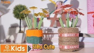 """getlinkyoutube.com-Cách Làm Bình Hoa Siêu """"Cute"""""""