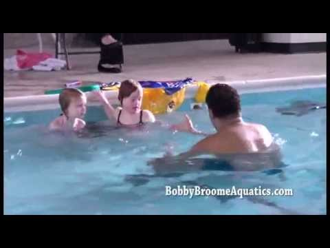 Learn to Swim - Front Crawl drill, Flutter kick on back drills