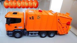 getlinkyoutube.com-Мусоровоз Брюдер - Игрушечные машинки для детей Видео обзор игрушек для мальчиков - Машинка Bruder