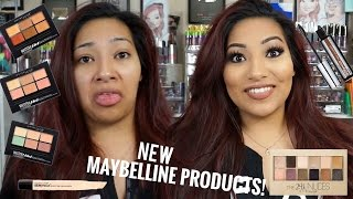 getlinkyoutube.com-NEW MAYBELLINE PRODUCTS! Makeup Tutorial + Review The 24k Nudes Palette & MORE