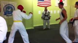getlinkyoutube.com-Tae Kwon Do vs Tang Soo Do Practice - Eddie vs ?