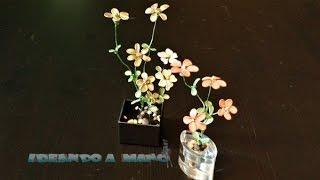 getlinkyoutube.com-Cómo hacer flores de alambre pintadas con laca de uñas