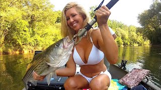 getlinkyoutube.com-Striped Bass Fishing With a Girl on Lake Lanier / Upper Hooch