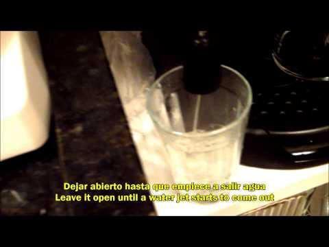 DeLonghi EC220 No sale agua de cafetera espresso / Water doesn't come out of espresso coffee machine