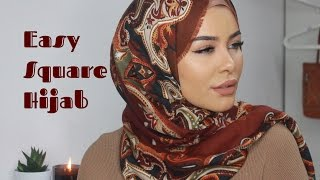 Easy Square Hijab Tutorial