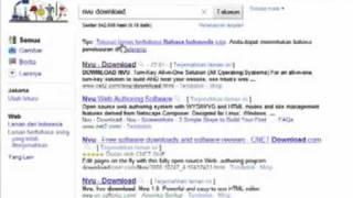 Tutorial Download HTML Editor NVU