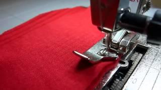 getlinkyoutube.com-Шитье трикотажа и обметка срезов на простой швейной машине без оверлока