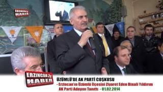 Üzümlü'de AK Parti Coşkusu Yıldırım'ı Mest Etti