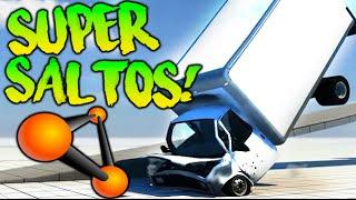 COMPETICIONES DE SUPER SALTOS!! CAMIONES DESTROZADOS BEAMNG.DRIVE Makiman