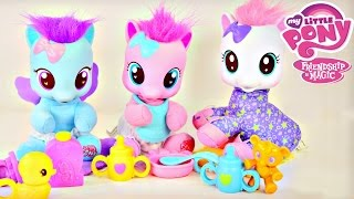 getlinkyoutube.com-My Little Pony Baby Pinkie Pie CottonBelle Lullaby Moon MLP Toddler Ponies by Disney Cars Toy Club