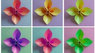 getlinkyoutube.com-How to Fold an Origami Hollow-Petal Flower (version 1)