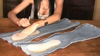 getlinkyoutube.com-шлепанцы из джинсов