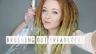 getlinkyoutube.com-BRUSHING OUT SOME DREADLOCKS AFTER 2 YEARS