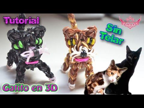 ♥ Tutorial: Gatito en 3D de gomitas (sin telar) ♥